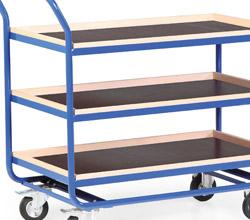 Stahlrohr-Tischwagen