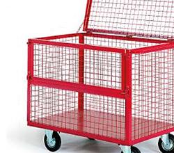 Mesh-sided trolleys